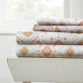 Noble Linens Premium Ultra Soft Aztec Dreams Pattern 4 Piece Bed Sheet Set