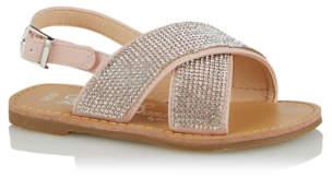 Bell George Embellished Crossover Sandals