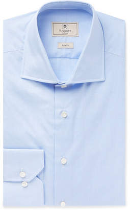 Hackett Mayfair Slim-Fit Cutaway-Collar Micro-Gingham Cotton Shirt