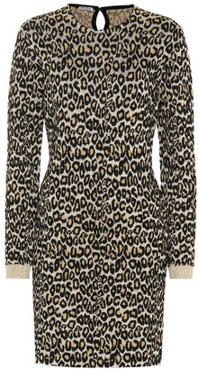 Miu Miu Leopard-print wool-blend dress