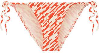 Eres Malou Printed Bikini Briefs - Bright orange
