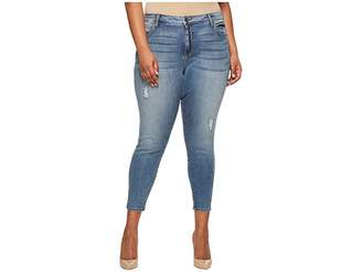 KUT from the Kloth Plus Size Donna Ankle Skinny in Galvanized Women's Jeans