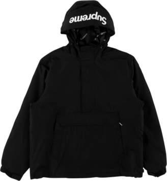 Supreme Hooded Logo Half Zip Pullover - 'FW 17' - Black