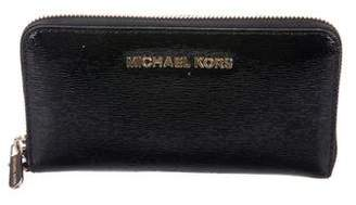 Michael Kors Patent Leather Zip-Around Wallet