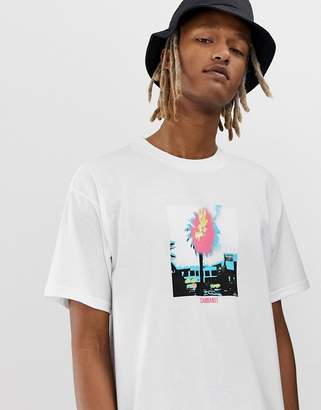 Wip WIP Burning Palm short sleeve t-shirt in white