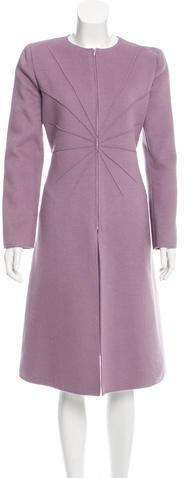ValentinoValentino Gathered Wool Coat