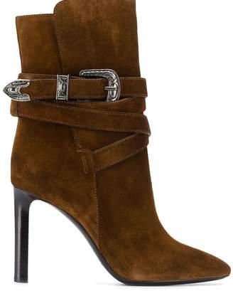 Saint Laurent Mica Western ankle boots