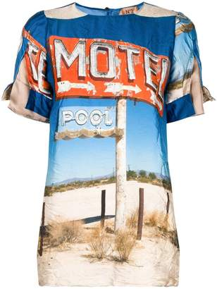 No.21 Motel print top
