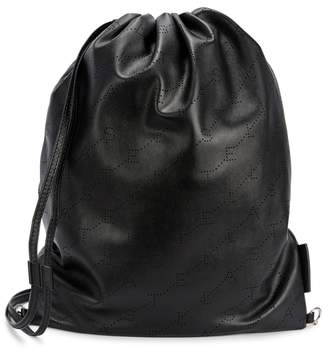 Stella McCartney Monogram Faux Leather Backpack