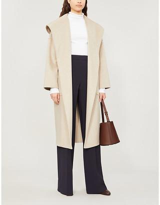 Max Mara Marilyn hooded cashmere wrap coat