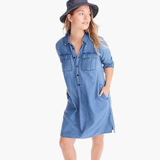J.Crew Chambray shirtdress with utility pockets