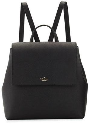 Kate Spade New York Cameron Street Neema Leather Backpack, Black $348 thestylecure.com