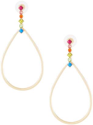 Fragments for Neiman Marcus Crystal Teardrop Earrings
