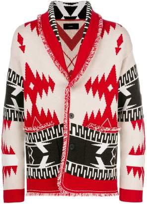 Alanui patterned shawl collar cardigan