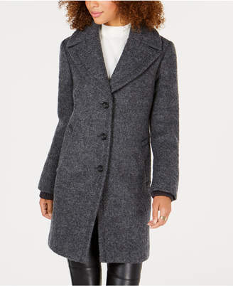 Vince Camuto Shawl-Collar Textured Wool Coat