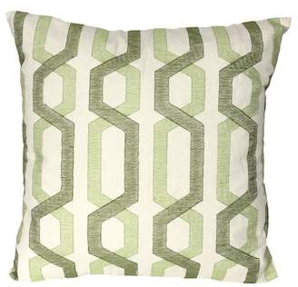 "A&B Home 18"" x 18\"" Cotton Pillow - Green"