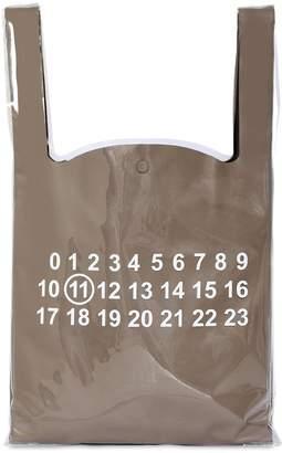 Maison Margiela Monoprix Leather & Pvc Tote Bag