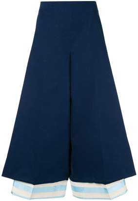 DELPOZO flared cropped trousers