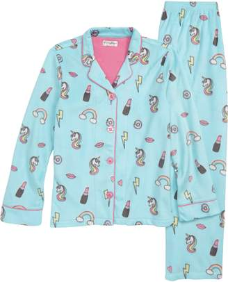 PJ Salvage Girl Power Two-Piece Fleece Pajamas
