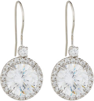 Fantasia Antique Cubic Zirconia Round Drop Earrings