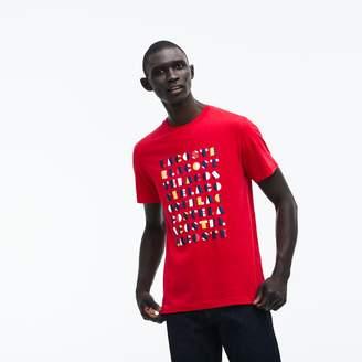 Lacoste Men's Crew Neck 3D Lettering Cotton Jersey T-shirt