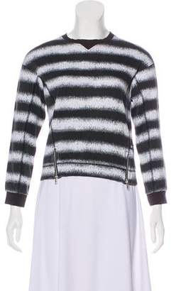 Molo Stripe Print Zip-Accented Sweater