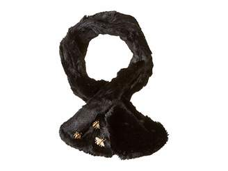 San Diego Hat Company BSS3545 Faux Fur Scarf with Bug Detail