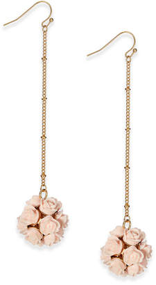 INC International Concepts I.N.C. Carved Rose Ball Drop Earrings, Created for Macy's