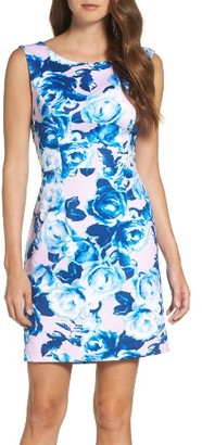 Women's Betsey Johnson Scuba Sheath Dress $118 thestylecure.com