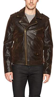 GUESS Men's Keene Moto Jacket
