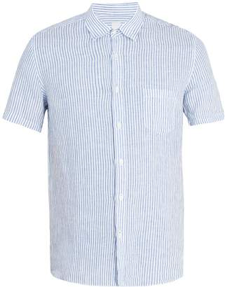 120% Lino 120 LINO Short-sleeved striped linen shirt