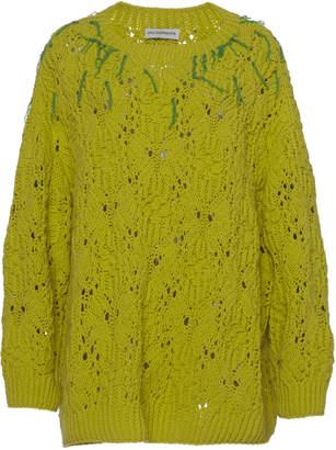 Vika Gazinskaya Oversized Embroidered Hand-Knit Sweater
