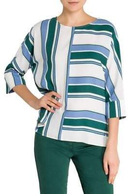 Olsen Color Love Striped Blouse