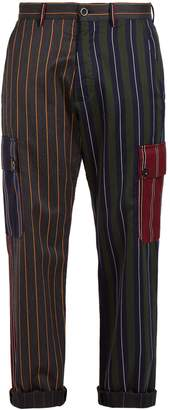 Loewe Striped patchwork trousers