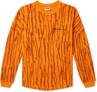 Billionaire Boys Club Logo-Embroidered Waffle-Knit Cotton-Jersey Sweatshirt - Men - Orange