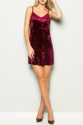 essue Velvet Slip Dress $35 thestylecure.com