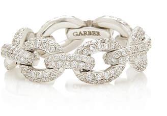 Sidney Garber Oval Diamond Link Ring