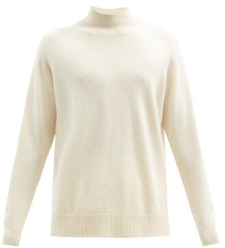 Raey Loose Fit Funnel Neck Cashmere Sweater - Mens - Ivory