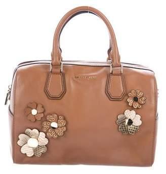 Michael Kors Leather Floral-Embellished Satchel