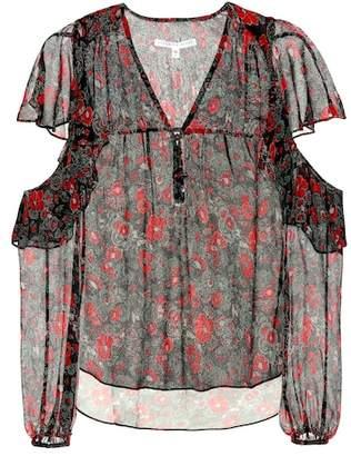 Veronica Beard Blakely foral-printed silk blouse
