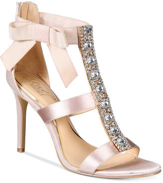 Badgley Mischka Henderson Strappy Bow Evening Sandals