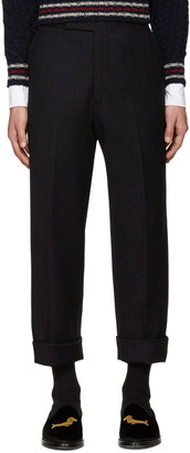 Thom Browne Navy Beltloop Trousers $990 thestylecure.com