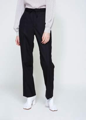 Maison Margiela Wool Poplin Tie Waist Trouser