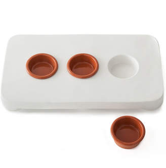 Michael Graves Design Serving Platter with Sauce Cups