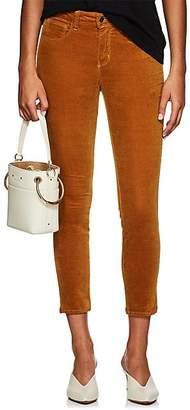 L'Agence Women's Margot Velvet Skinny Jeans - Mustard