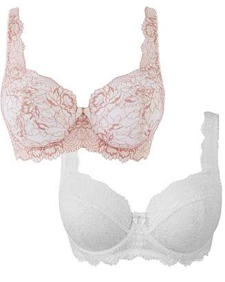 Pretty Secrets 2 Pack Ella Full Cup Blush/White Bras