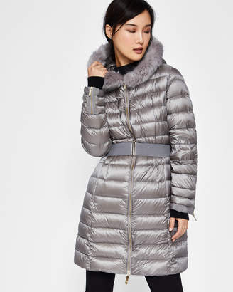 Ted Baker AMANDEA Long hooded puffer coat