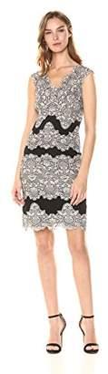 Tahari by Arthur S. Levine Women's Petite Sleeveless lace Sheath Dress
