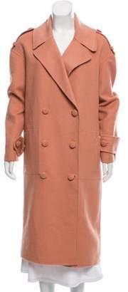 Tibi Double-Breasted Oversize Coat