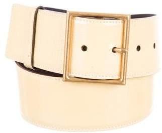 Saint Laurent Patent Leather Buckle Belt